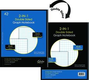 kurtz bros double sided graph paper notebook