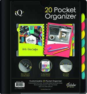 20 Pocket Poly Project Organizer