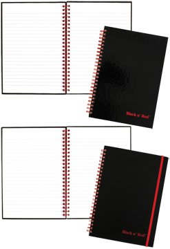 Mead Black and Red Ruled Notebook