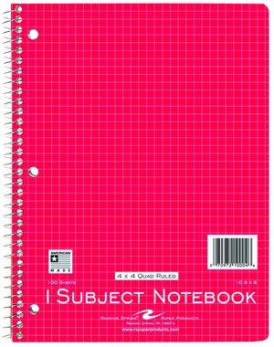 kurtz bros 4 x 4 graph paper notebook