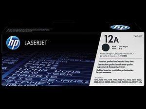 OEM HP 12A Black Laser Cartridge