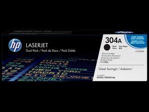 OEM HP CC530AD Black 2/Box Laser Cartridges