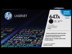 OEM HP 647A Black Laser Cartridge