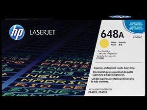 OEM HP 648A Yellow Laser Cartridge