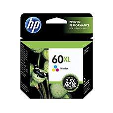HP 60XL Tri-Color (High Yield) Original Ink Cartridge