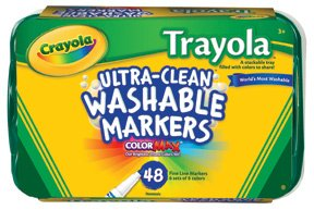 48 Ct. Trayola™ Ultra-Clean Washable Fine Tip Markers