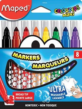 Kurtz Bros  - Ultra Washable Broad Tip Maxi Markers