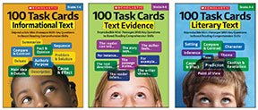 100 Task Cards - Informational Text, Text Evidence and Literary Text