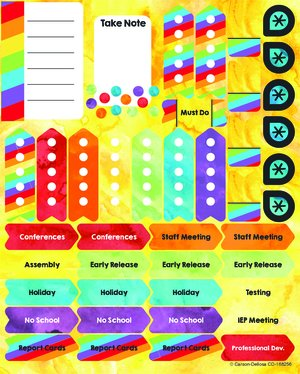 Celebrate Learning Planner Stickers