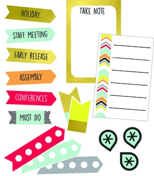 Aim High Planner Coordinating Stickers