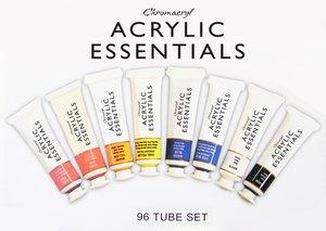 Chromacryl® Acrylic Essentials - 96 20ml Tube Essentials Set