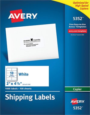These White Address Labels For Copiers Make Shipping And Mailing Easier Just Create Your Master Sheet Of Addresses One Time Then Copy As Many