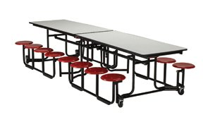 ki uniframe rollaway tables feature tabletops constructed of solid core highdensity finished in a wide range of high pressure laminate