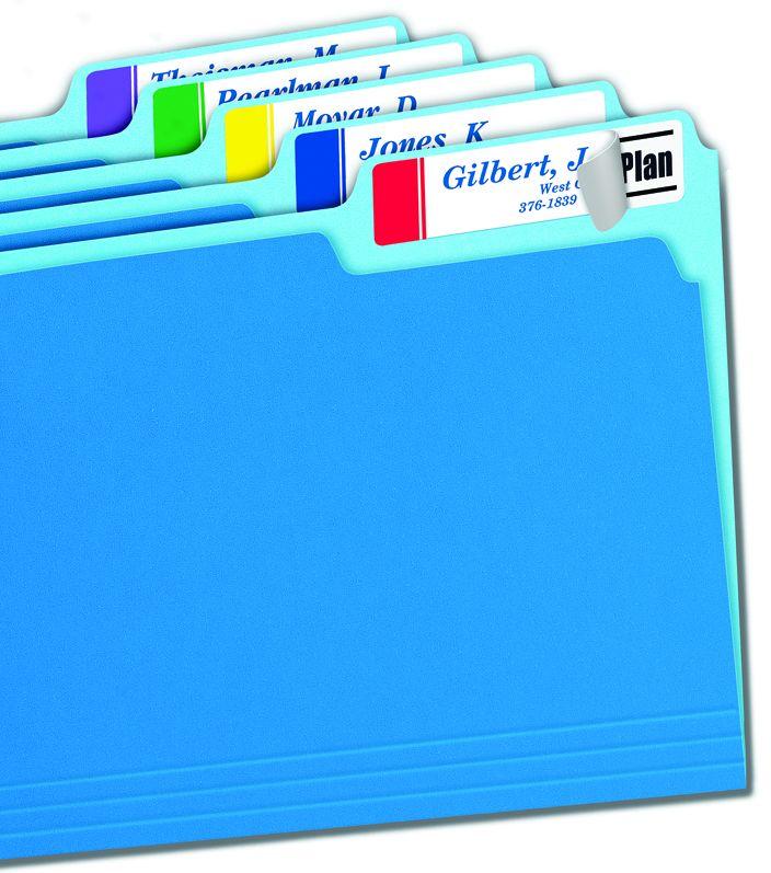 450 Pack Post-it Extra Large File Folder Labels Asst.Colors
